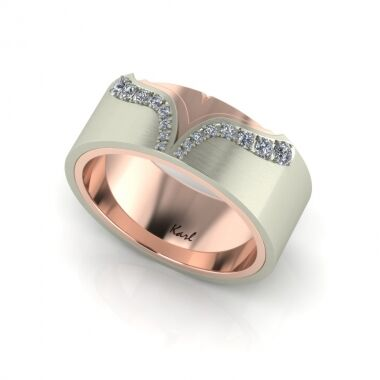 Sunset wedding ring