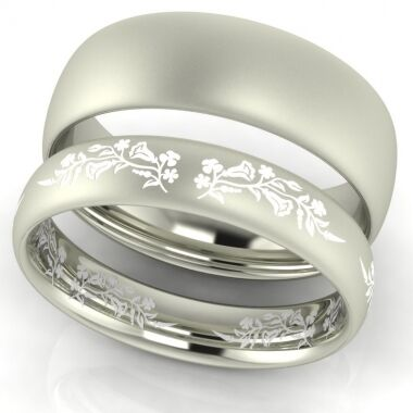First Love Kalocsai mintás karikagyűrű wedding ring