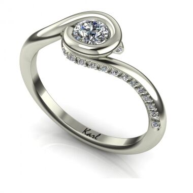 Girlie Folies engagement ring