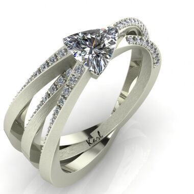 Crossroads engagement ring