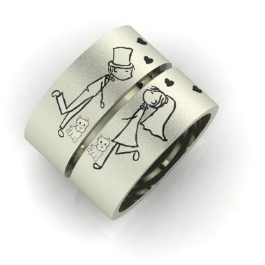 Foolish Lovers wedding ring